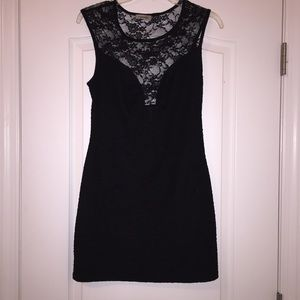 Dresses & Skirts - Lace cut out little black dress